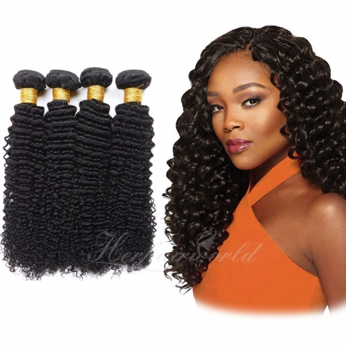 Wholesale Deep Curly 100% Virgin Human Hair(100grams/bundle)