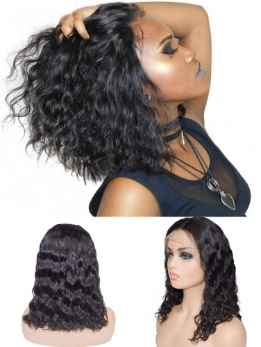 Bob Style Wig Natural Wave Frontal Lace Wig