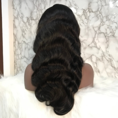 Body Wave Frontal Lace Wig(Natural Black)
