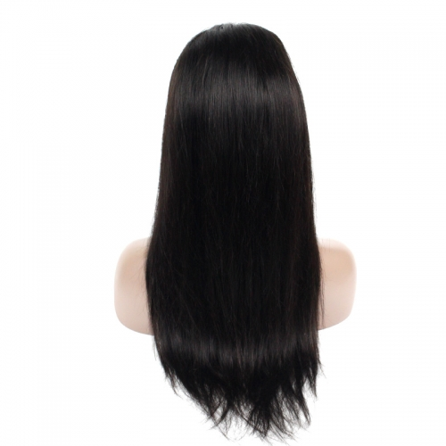 Straight Frontal Lace Wig(Natural Black)