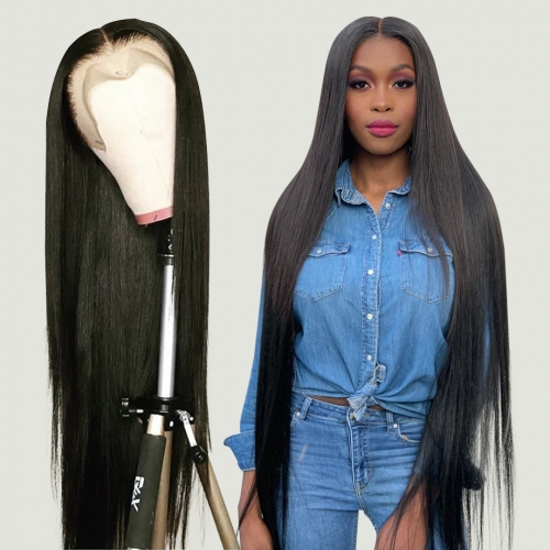 Long Length 26-40 inches 13×4 Lace Frontal Lace Human Virgin Hair Wig