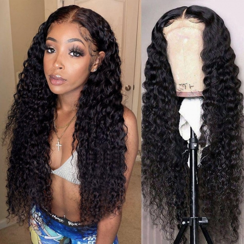 4×4 Lace Closure Wig - Deep Wave(180% Density)